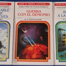 Libros de segunda mano: ELIGE TU PROPIA AVENTURA Nº 1, 8 Y 10 - NUEVA EDICIÓN - TIMUN MAS (2007). Lote 217658661