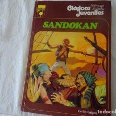 Libros de segunda mano: SANDOKAN, EMILIO SALGARI, CL,ASICOS JUVENILES Nº 3, ED TOPELA 1976. Lote 233315510