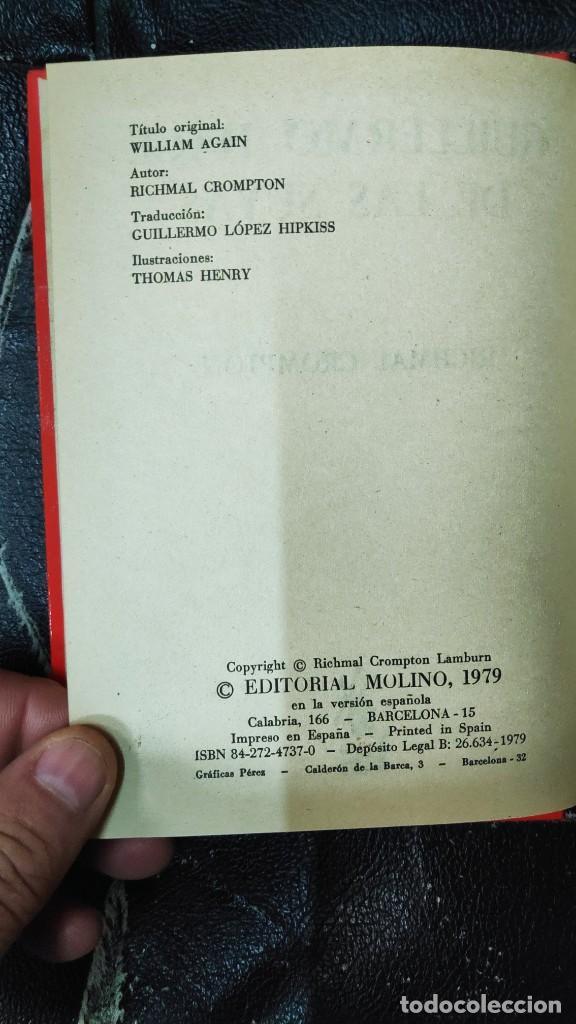 Libros de segunda mano: GUILLERMO HACE DE LA SUYAS RICHMAL CROMPTON AÑO 1979 EDITORIAL MOLINO - Foto 4 - 234917165