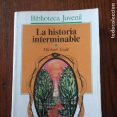 Libros de segunda mano: LA HISTORIA INTERMINABLE. ENDE,MICHAEL. COL. BIBLIOTECA JUVENIL. ED.SALVAT-ALFAGUARA. BARCELONA 1987. Lote 235524660