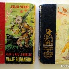 Libros de segunda mano: QUO VADIS + VEINTE MIL LEGUAS DE VIAJE SUBMARINO. COLECCIÓN HERNANDO. EDICIONES DE LOS 50.. Lote 235817540