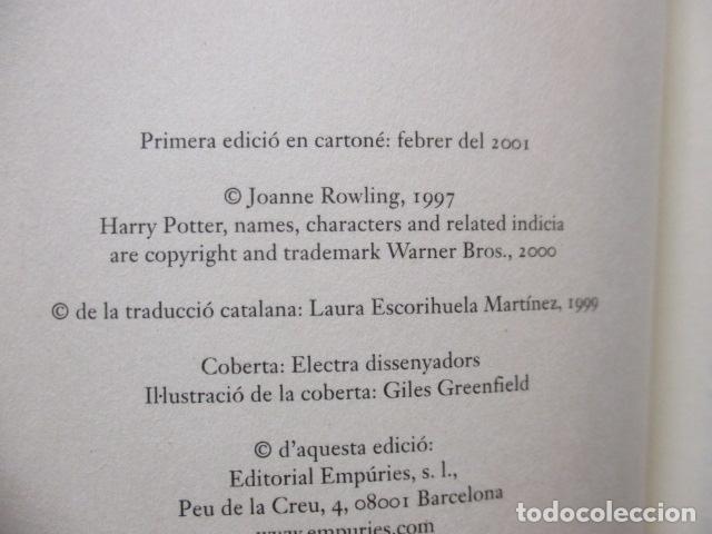 Libros de segunda mano: HARRY POTTER I LA PEDRA FILOSOFAL - J. K. ROWLING - EMPÚRIES - Foto 9 - 263100580