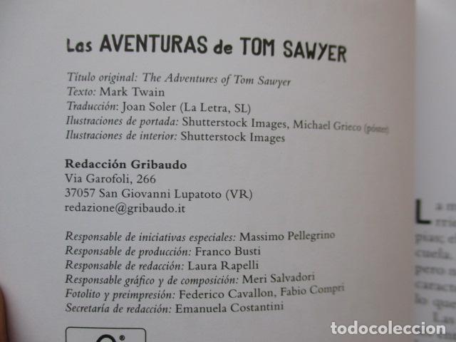 Libros de segunda mano: MARK TWAIN - LAS AVENTURAS DE TOM SAWYER - GRIBAUDO - (incluye juego de la isla Jackson) NUEVO - Foto 9 - 236849170