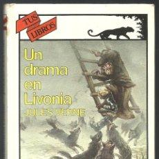 Libros de segunda mano: UN DRAMA EN LIVONIA JULES VERNE ANAYA PRIMERA EDICION 1987. Lote 238552325