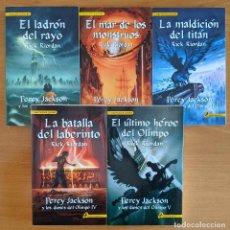 Libri di seconda mano: PERCY JACKSON Y LOS DIOSES DEL OLIMPO. 5 VOLUMENES. Lote 239688665
