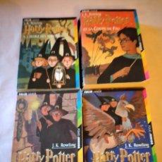 Libros de segunda mano: LOTE DE 4 LIBROS DE HARRY POTTER ,FOLIO JUNIOR,J.K.ROWLING ,FRANCES 1998-1999-2000. Lote 240043425