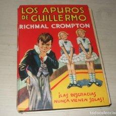 Libros de segunda mano: LIBRO LOS APUROS DE GUILLERMO - RICHMAL CROMPTON - EDITORIAL MOLINO AÑOS 80. Lote 244202730
