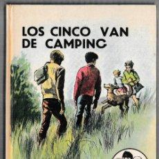 Libros de segunda mano: LOS CINCO VAN DE CAMPING - ENID BLYTON - JUVENTUD 1973 - 6ª EDICIÓN. Lote 244581535