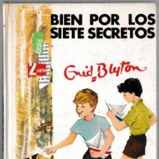 Libros de segunda mano: BIEN POR LOS SIETE SECRETOS - ENID BLYTON - JUVENTUD 1967 - 2ª EDICIÓN. Lote 244584970
