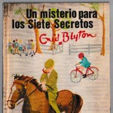 Libros de segunda mano: UN MISTERIO PARA LOS SIETE SECRETOS - ENID BLYTON - JUVENTUD 1969 - 3ª EDICIÓN. Lote 244585715