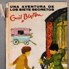 Libros de segunda mano: UNA AVENTURA DE LOS SIETE SECRETOS - ENID BLYTON - JUVENTUD 1969 - 3ª EDICIÓN. Lote 244586605