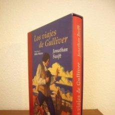 Libros de segunda mano: JONATHAN SWIFT: LOS VIAJES DE GULLIVER (EDHASA, 2001) ED. ILUSTRADA EN ESTUCHE. Lote 244901130
