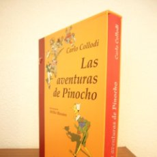 Libros de segunda mano: CARLO COLLODI: LAS AVENTURAS DE PINOCHO. TRAD. ANTONIO COLINAS (EDHASA) ED. ILUSTRADA EN ESTUCHE. Lote 244903040