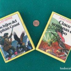 Libros de segunda mano: HISTORIAS INFANTILES, LOS HIJOS DEL CAPITÁN GRANT Y CINCO SEMANAS EN GLOBO, ED. BRUGUERA 1985.. Lote 244936710