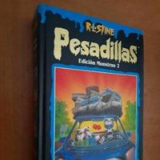 Libros de segunda mano: PESADILLAS. EDICIÓN MONSTRUO 2. R. L. STINE. TAPA DURA. BUEN ESTADO. Lote 245411685