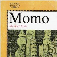 Libros de segunda mano: MOMO - MICHAEL ENDE. ALFAGUARA JUVENIL. 14ª EDIC. Lote 248691990