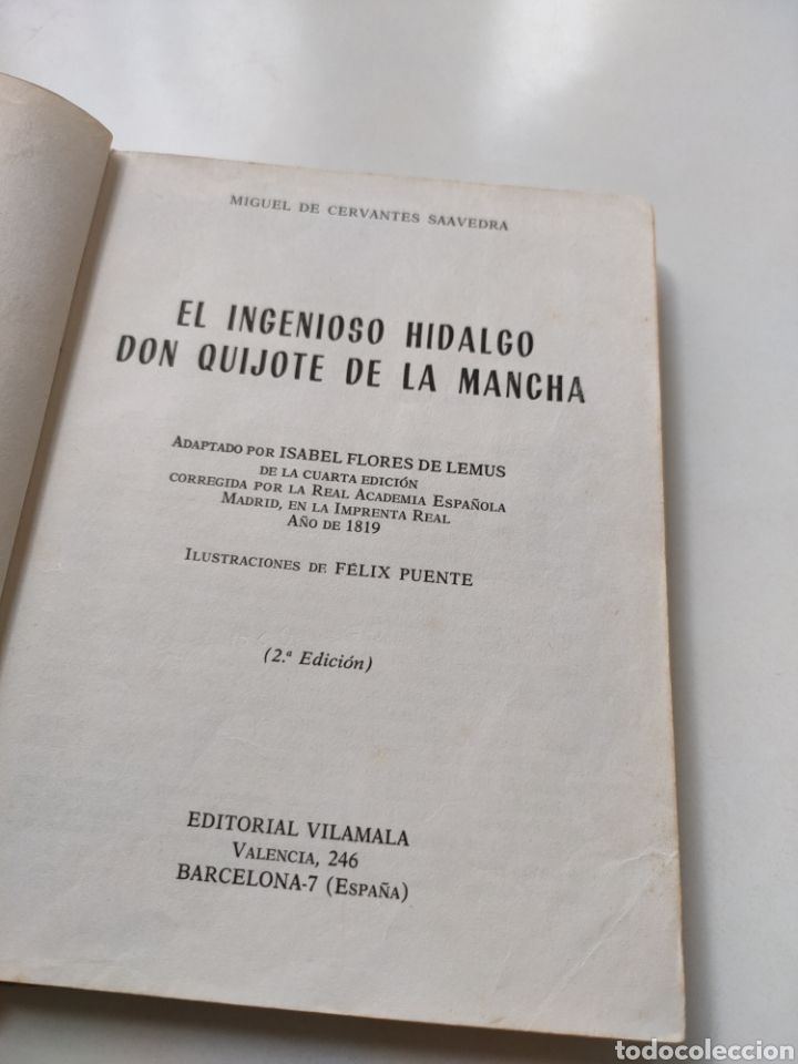 Libros de segunda mano: El ingenioso hidalgo don Quijote de la Mancha. Adaptación para niños - Foto 5 - 252457635