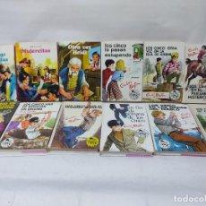 Libros de segunda mano: LOTE DE 12 LIBROS. LOS CINCO .- ENID BLYTON.Y TRES DIFERENTES VER FOTOS.MUJERCITAS Y OTRA VEZ HEIDI.. Lote 255924960