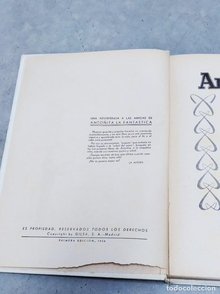 Libros de segunda mano: ANTOÑITA LA FANTÁSTICA Y TITERRIS - BORITA CASAS - ED.GILSA 1ª EDICIÓN 1950 - DIBUJOS ZARAGÜETA - Foto 3 - 257349360