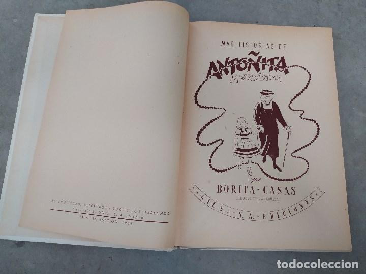 Libros de segunda mano: MÁS HISTORIAS DE ANTOÑITA LA FANTÁSTICA - BORITA CASAS - ED.GILSA 1ªEDICIÓN 1948 - DIBUJOS ZARAGÜETA - Foto 4 - 257350355