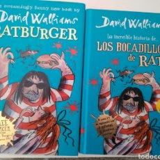 Libros de segunda mano: DAVID WALLIAMS. LA INCREÍBLE HISTORIA DE LOS BOCADILLOS DE RATA + RATBURGUER. 2 LIBROS.. Lote 261584515