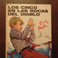 Libros de segunda mano: LOS CINCO EN LAS ROCAS DEL DIABLO - ENID BLYTON. Lote 262350680