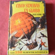 Libros de segunda mano: CINCO SEMANAS EN GLOBO - JULIO VERNE - COLECCION HISTORIAS - BRUGUERA. Lote 263004630