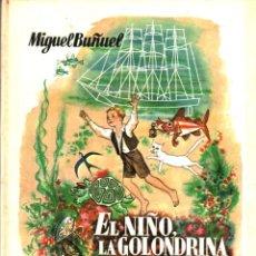 Libros de segunda mano: MIGUEL BUÑUEL ; EL NIÑO, LA GOLONDRINA Y EL GATO (DONCEL, 1959) PRIMERA EDICIÓN. Lote 265817129