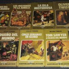 Libros de segunda mano: LOTE DE 7 LIBROS HISTORIAS SELECCION BRUGUERA MARK TWAIN JULIO VERNE CHARLES DICKENS. Lote 276467468