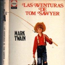 Libros de segunda mano: MARK TWAIN : LAS AVENTURAS DE TOM SAWYER (MOLINO, 1969) CON LÁMINAS EN COLOR. Lote 277058638