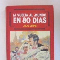 Libros de segunda mano: LIBRO ILUSTRADO LA VUELTA AL MUNDO EN 80 DIAS JULIO VERNE 1991 COMO NUEVO. Lote 278202128
