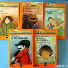 Libros de segunda mano: 5 LIBROS BARCO DE VAPOR A PARTIR 9 AÑOS. Lote 278571903