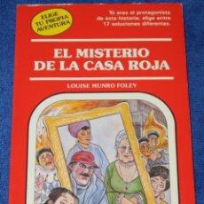 Libros de segunda mano: EL MISTERIO DE LA CASA ROJA - ELIGE TU PROPIA AVENTURA Nº 63 - TIMUN MAS. Lote 278849278