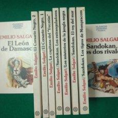 Libros de segunda mano: CLASICOS JUVENILES PLANETA. 8 TITULOS DE EMILIO SALGARI EN 9 TOMOS. EDITORIAL PLANETA.. Lote 279519593