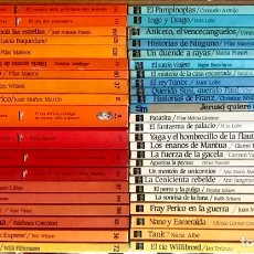 Libros de segunda mano: LOTE 45 LIBROS COLECCION INFANTIL JUVENIL LECTURA SM BARCO DE VAPOR NOVELA LITERATURA NIÑOS. Lote 276352468