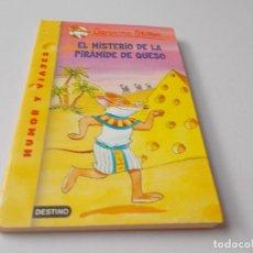 Libros de segunda mano: GERONIMO STILTON Nº 17 EL MISTERIO DE LA PIRÁMIDE DE QUESO. Lote 280589723