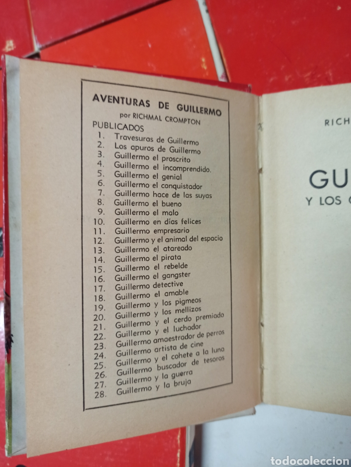 Libros de segunda mano: CROMPTON: LAS AVENTURAS DE GUILLERMO, PRIMERA EDICIÓN: 29 TOMOS, 1935-1966 EDIT. MOLINO TAPA DURA, - Foto 22 - 286255833