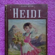 Libros de segunda mano: HEIDI JUANA SPYRI EDITORIAL ATLANTIDA 1959 COLECCIÓN ROJA 41 BIBLIOTECA BILLIKEN. Lote 288390138