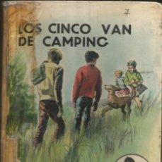 Libros de segunda mano: LOS CINCO VAN DE CAMPING - ENID BLYTON. LOMO REPARADO Y LIBRO FORRADO. Lote 289006538