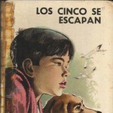 Libros de segunda mano: ENID BLYTON - LOS CINCO SE ESCAPAN. LOMO REPARADO, PERO MUY ENVEJECIDO. Lote 289310358