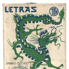 Libros de segunda mano: LETRAS 15: GONG, 1938, MUY BUEN ESTADO. COLECCIÓN A.T.. Lote 289925578
