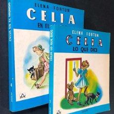 Libros de segunda mano: ELENA FORTUN / CELIA - LO QUE DICE ( Nº 1 ) CELIA -EN EL MUNDO ( Nº 4 ) ED. AGUILAR. Lote 295491913