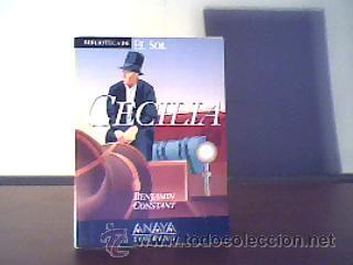 CECILIA;BENJAMIN CONSTANT;EL SOL 1991;¡NUEVO! (Libros de Segunda Mano (posteriores a 1936) - Literatura - Narrativa - Novela Romántica)