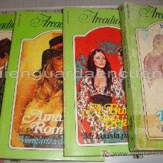 Libros de segunda mano: NOVELA DE AMOR ARCADIA LOTE DE 4 EBSA PRIMERAS EDICIONES AÑOS 80. Nº 21, 86, 91 Y 98. Lote 27612936