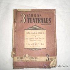 Libros de segunda mano: 3 OBRAS TEATRALES COMPLETAS, COL. TEATRO SELECTO, CISNE, 1941, BARCELONA, TORRADO-MORETO-ECHEGARAY. Lote 20702279