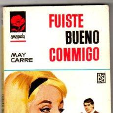 Libros de segunda mano: AMAPOLA Nº 799- EDI. BRUGUERA ,- MAYO 1967 - POR MAY CARRÉ - PORTADA DE ANTONIO BOSCH. Lote 26223302