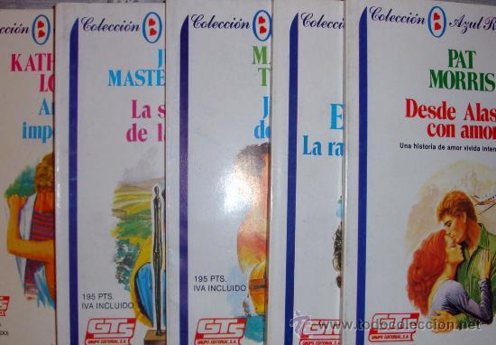 5 NOVELAS DE AMOR COLEC. AZUL ROMÁNTICO GTS 1987 NUEVAS (Libros de Segunda Mano (posteriores a 1936) - Literatura - Narrativa - Novela Romántica)