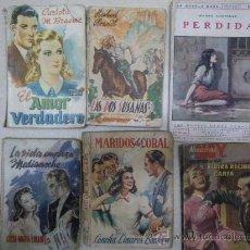 Libros de segunda mano: NOVELA ROSA DIVERSA: PERDIDA (1928) Y 2 MÁS DE ED. JUVENTUD,, 2 ED. MAUCCI Y 1 NOVELISTAS HOY . Lote 29683769