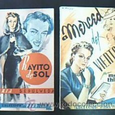 Libros de segunda mano: A MERCED DEL VIENTO. THIERRY, MARÍA / RAYITO DE SOL. SEPÚLVEDA, MARÍA. COLECCIÓN PARA TI 1942-43. Lote 31254671