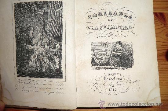 CORISANDA DE BEAUVILLIERS, TOMO 2. BARCELONA 1842. CON GRABADOS AL INICIO, 234 PAGINAS (Libros de Segunda Mano (posteriores a 1936) - Literatura - Narrativa - Novela Romántica)